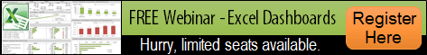 Excel Dashboards Webinar Registration